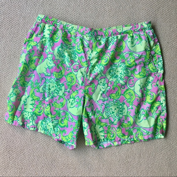 bdb60d6ff7 Lilly Pulitzer Other - Lilly Pulitzer Swim Trunk Men's Lion Print